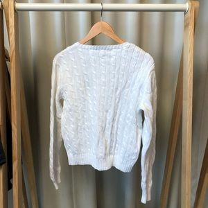 Ralph Lauren Sweaters - Ralph Lauren White Cable Knit Sweater